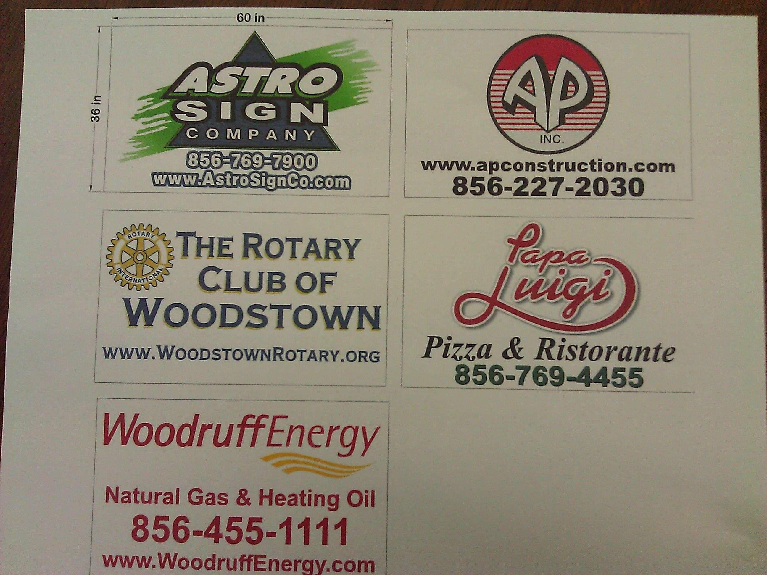 2012 Sign sponsors