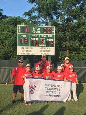 2017 9u district champions
