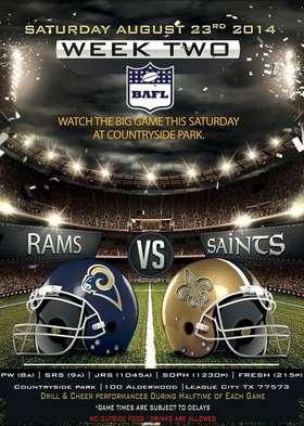 Rams vs. Saints