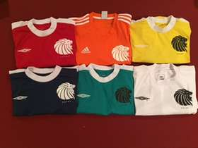 6 team jerseys