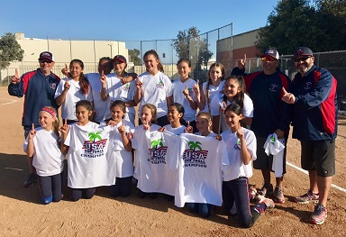 12U LA/Southbay Select champions