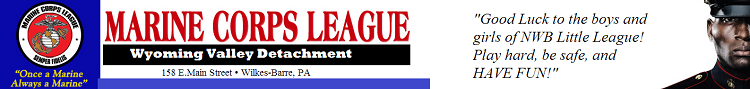 Marine Corp League banner ad