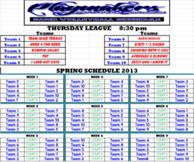 Spring 2013 Thursday 830 League