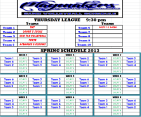Spring 2013 Thursday 930 League
