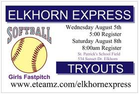 TRYOUT SIGN