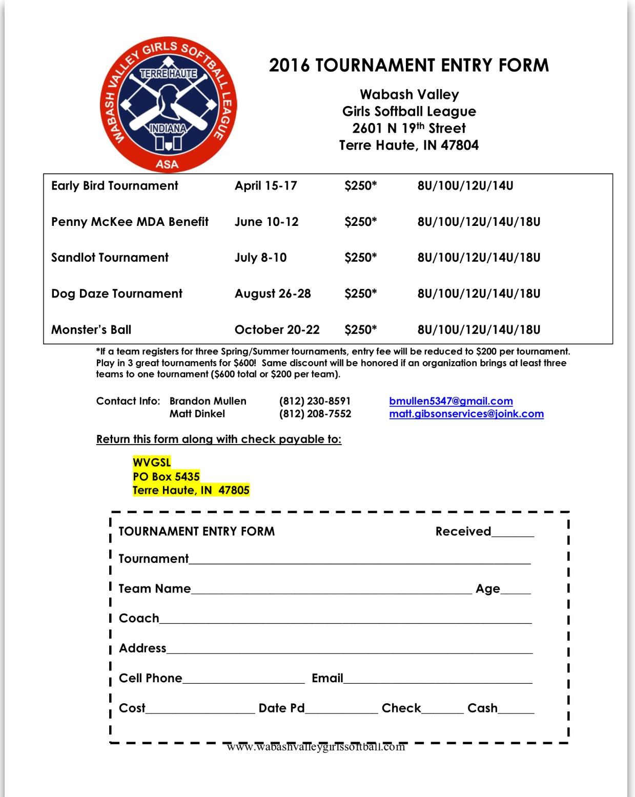 2016 Tournament Flyer
