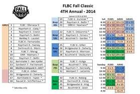 Rec schedule 2014