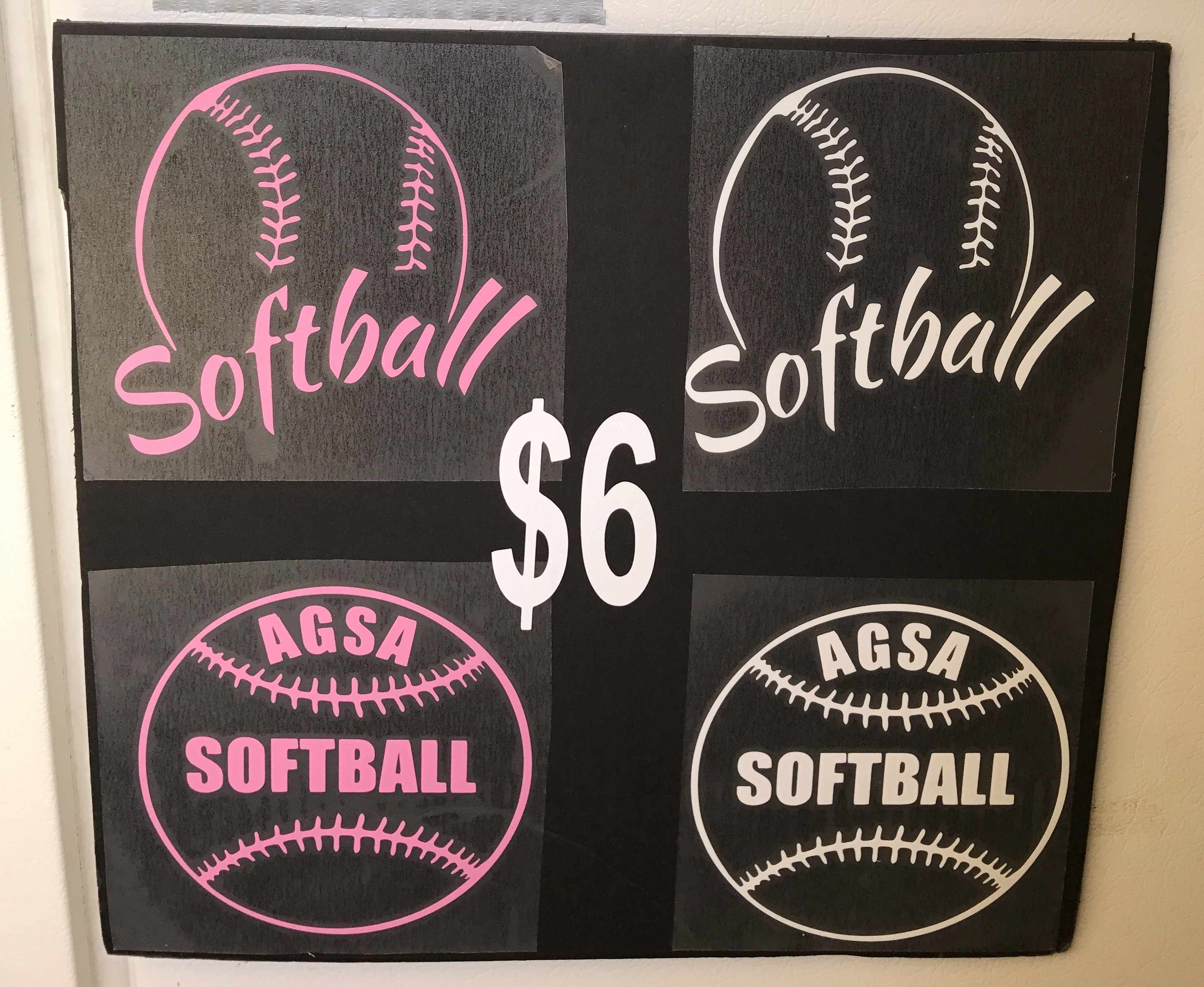 Softball Decals
