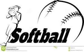 youth softball clipart