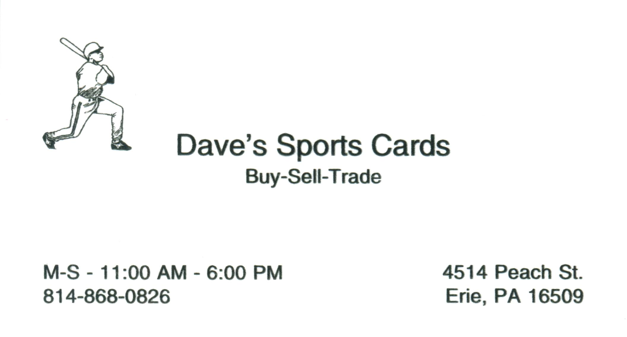 Dave's Sports Cards