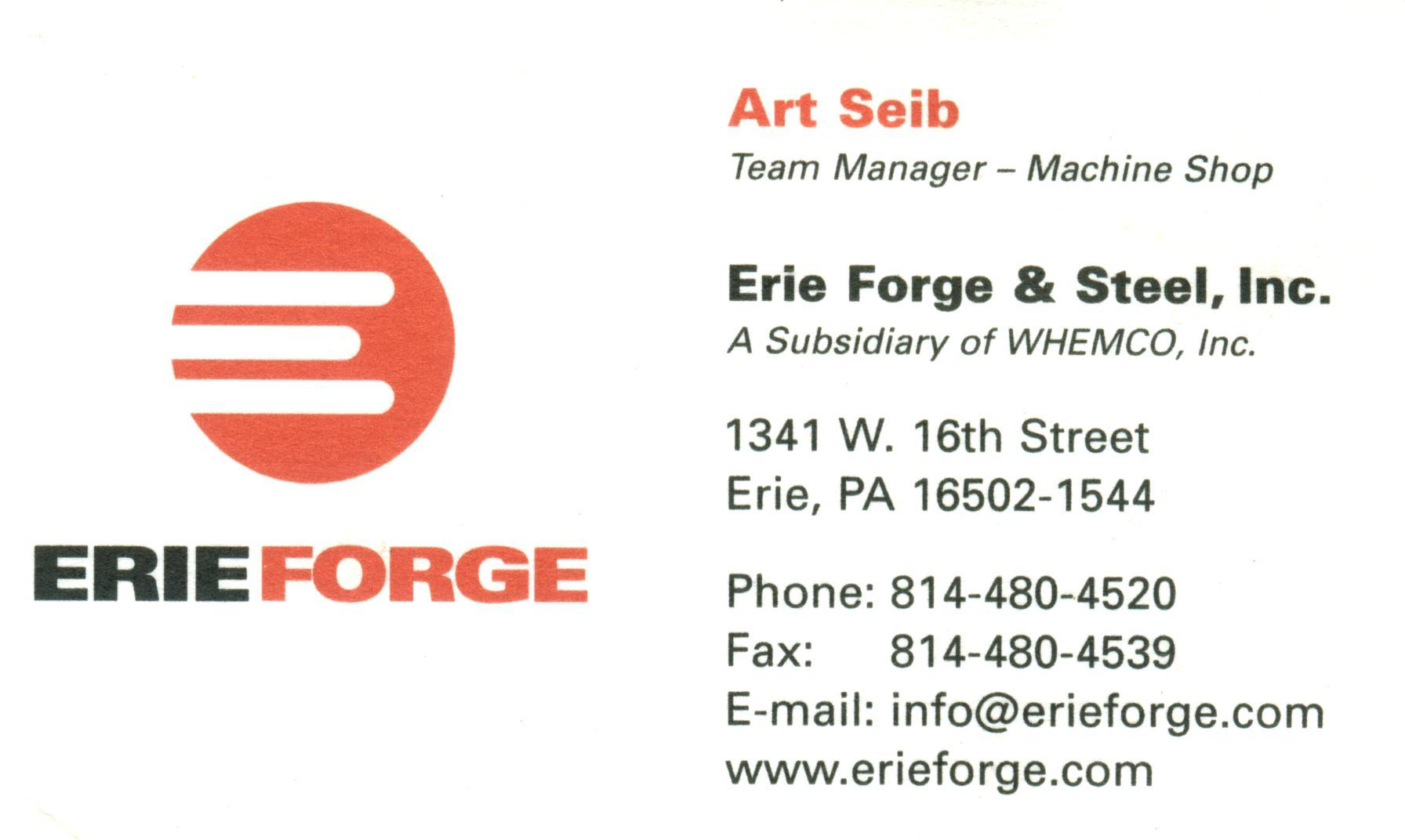 Erie Forge & Steel