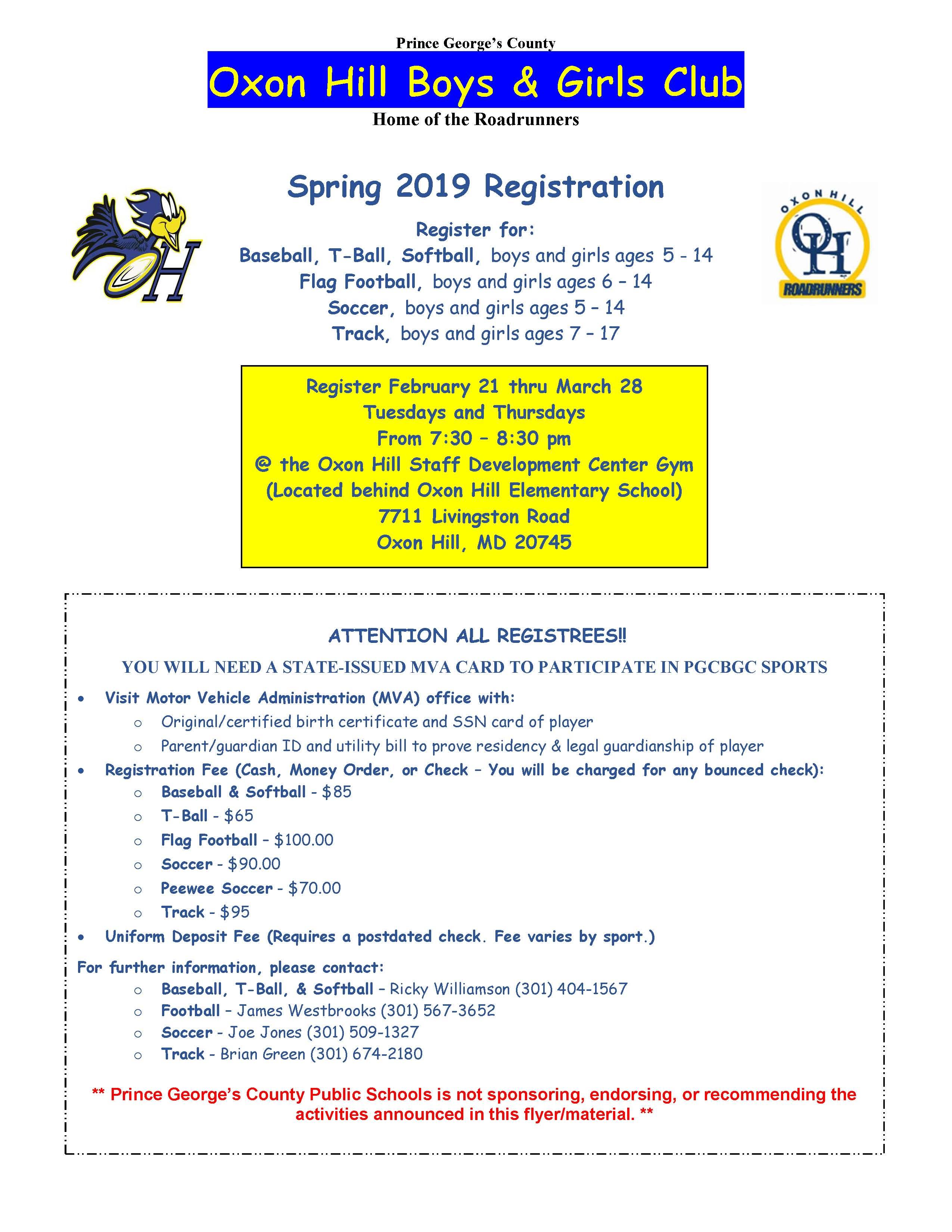 OHBGC Spring Flyer