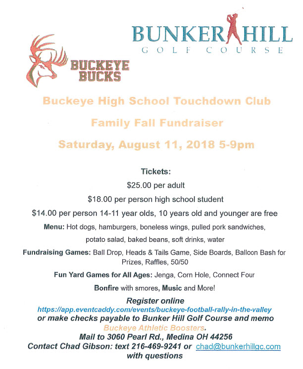 Touchdown Club Fundraiser 8-11-2018