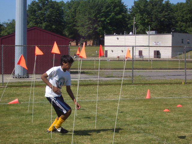 Jay takes on the agility flags