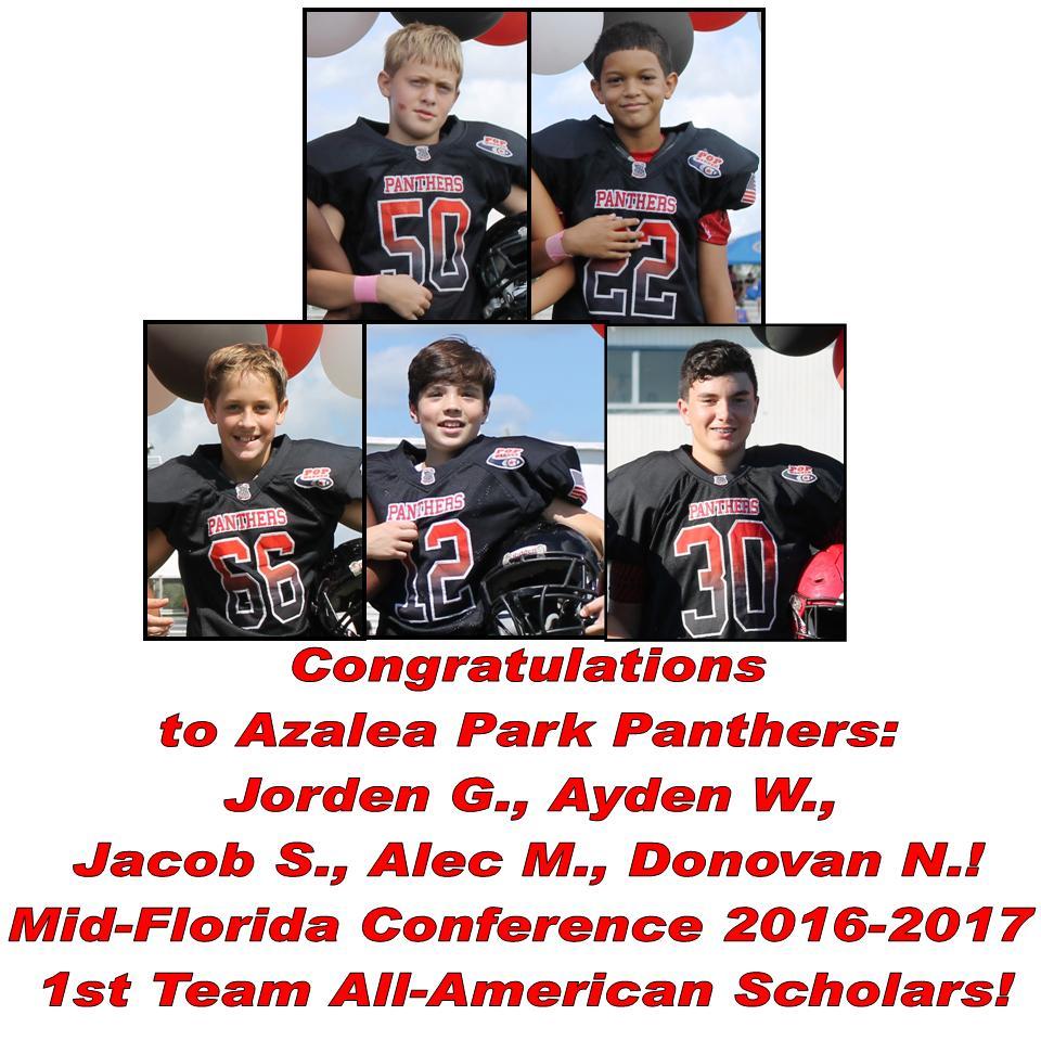 2016-17 Mid-FL All-American Scholars
