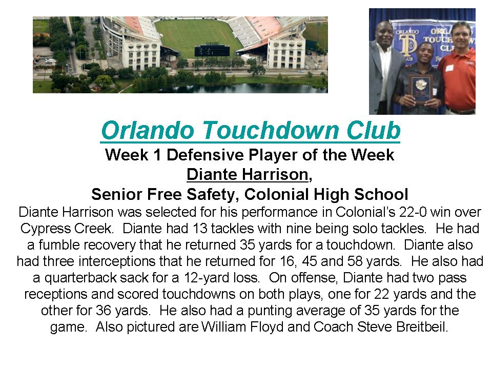 Diante Harrison OTC Player Wek article