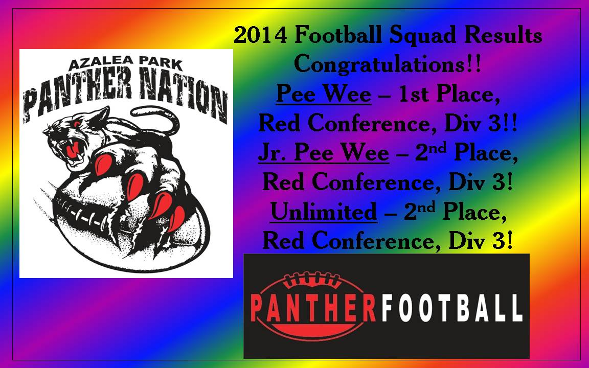 2014 Football Team Results