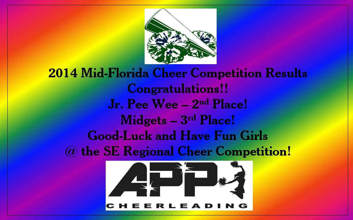 2014 Mid-Florida Cheer Results