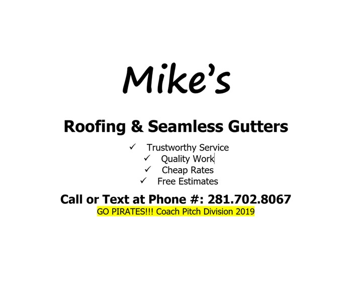 MIKE'S ROOFING & SEAMLESS GUTTERS