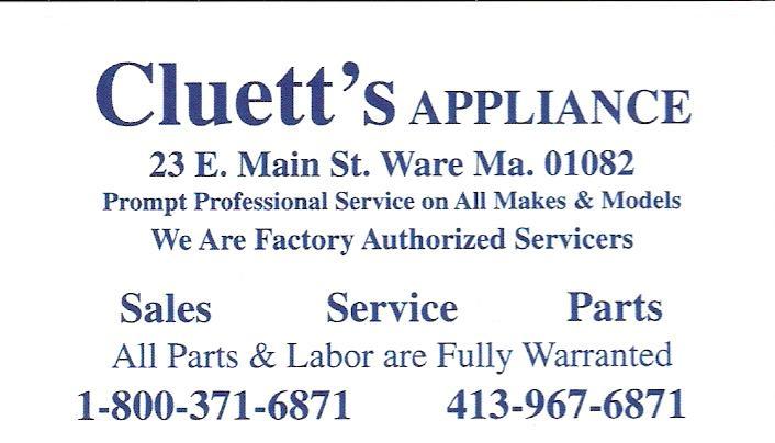 Cluett's Appliance