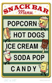 snack bar sign
