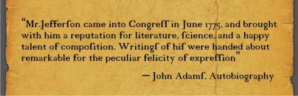 John Adams Quote On Jefferson