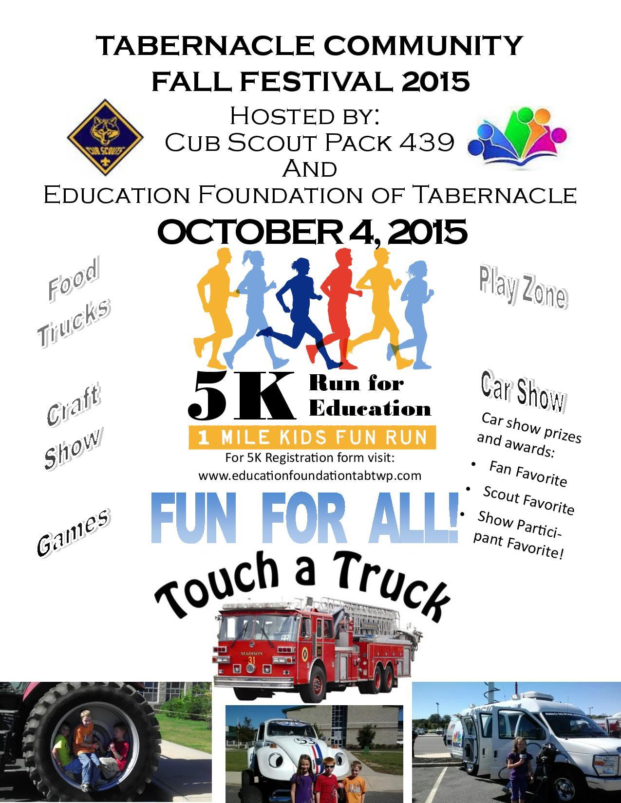 Tabernacle Community Fall Festival 5k 1m Runwalk Tabernacle