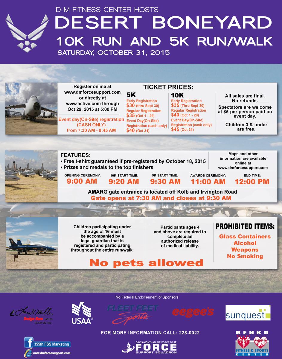 desert boneyard 10k run u0026 5k run walk tucson az 2015 active