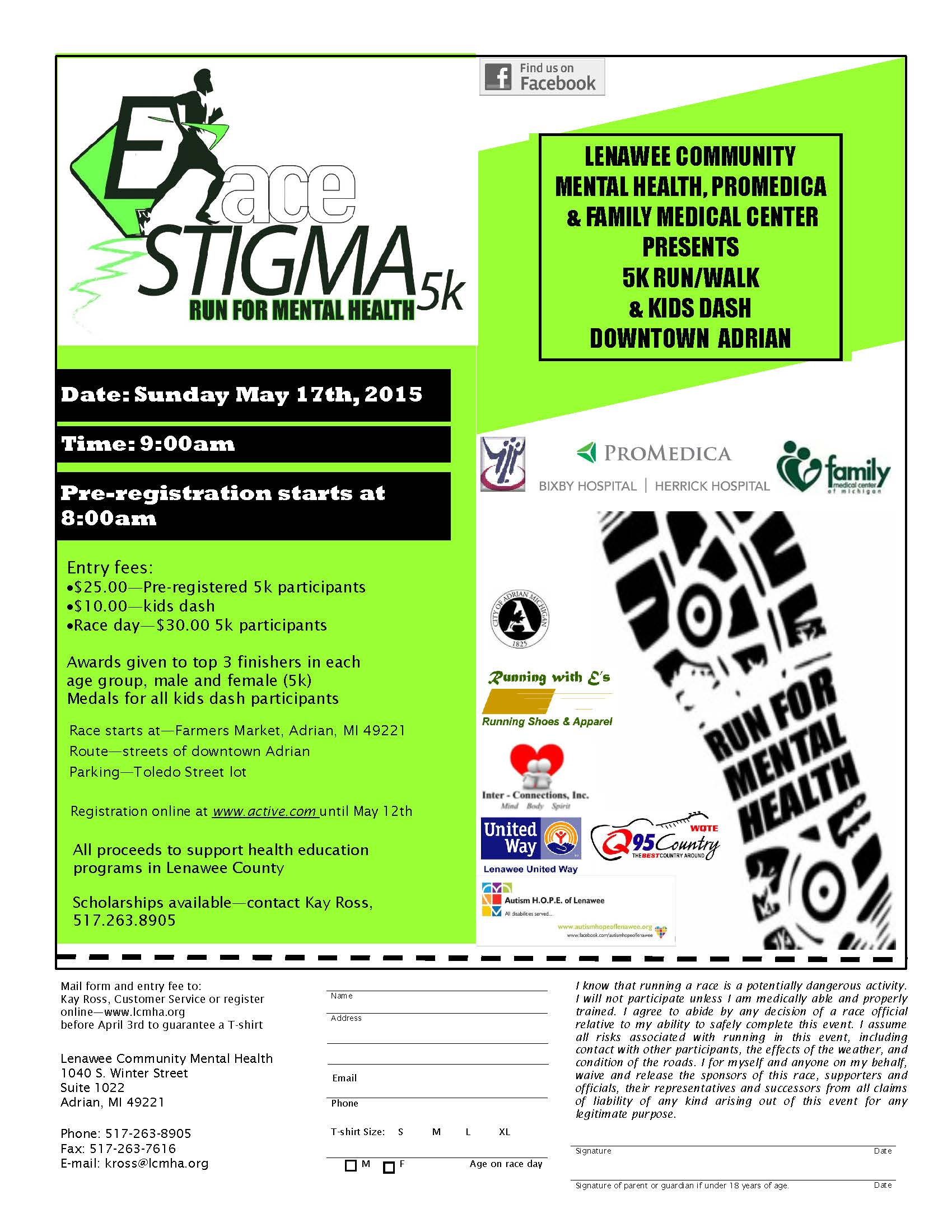 E Race Stigma 5k Run For Mental Health Adrian Mi 2015 Active