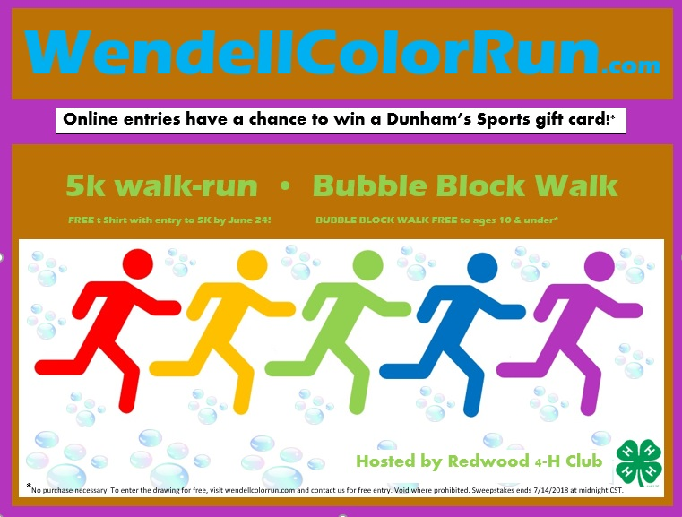 Wendell 5K COLOR Run (as low as $20) &