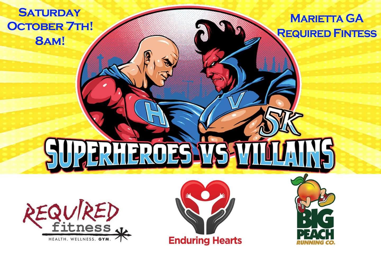 superheroes vs villains 5k marietta ga 2017 active