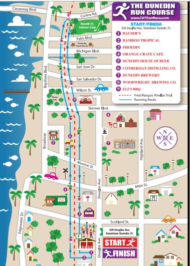 Map Of Dunedin Florida.The Downtown Dunedin 2019 St Patrick S Day 5k And Street Party