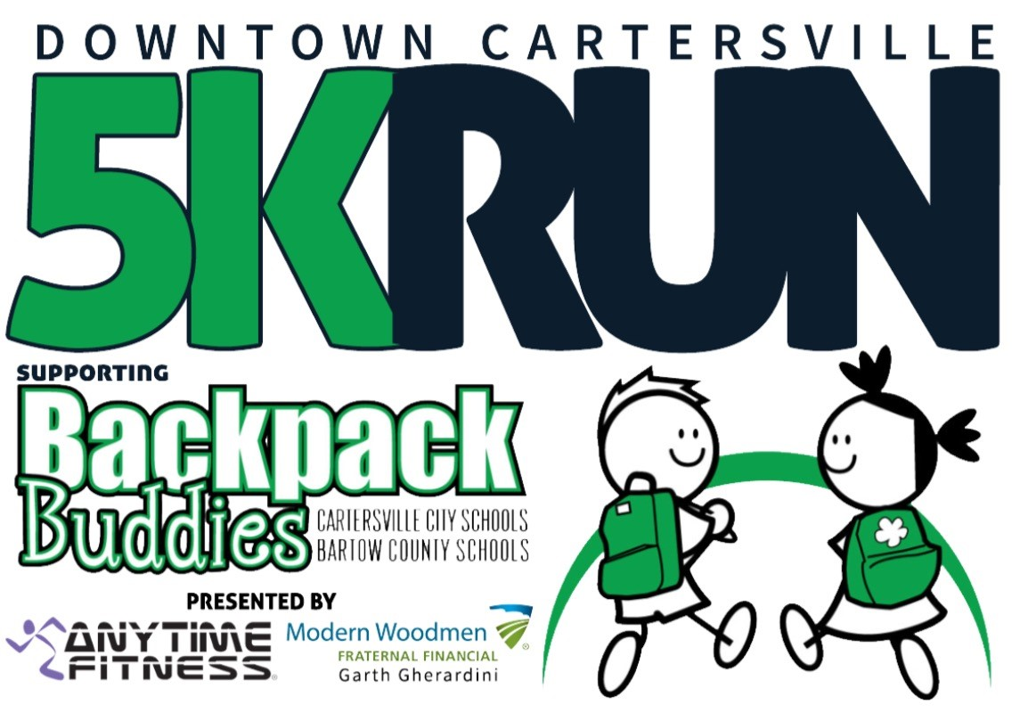 downtown cartersville 5k u0026 1 mile run to benefit backpack buddies