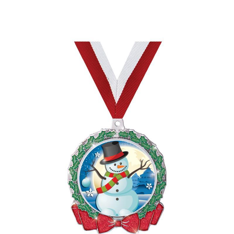 Christmas Virtual Walk Medal F//Engraving Virtual Christmas Walk Medal in Box