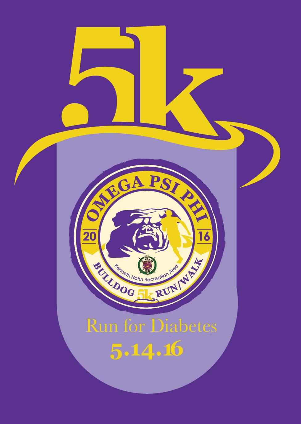 Omega Psi Phi 5k Bulldog Runwalk For Diabetes Los Angeles Ca